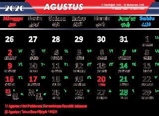 AGUSTUS 2020 PNG