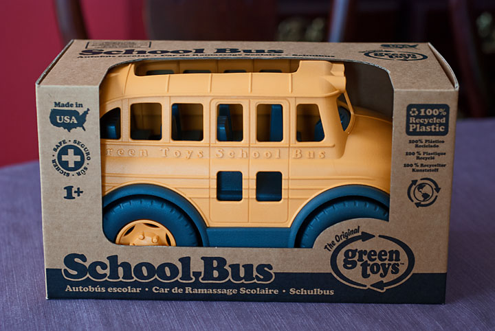 Green School Bus Toy