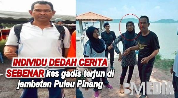 Individu dedah cerita sebenar kes gadis terjun di jambatan Pulau Pinang