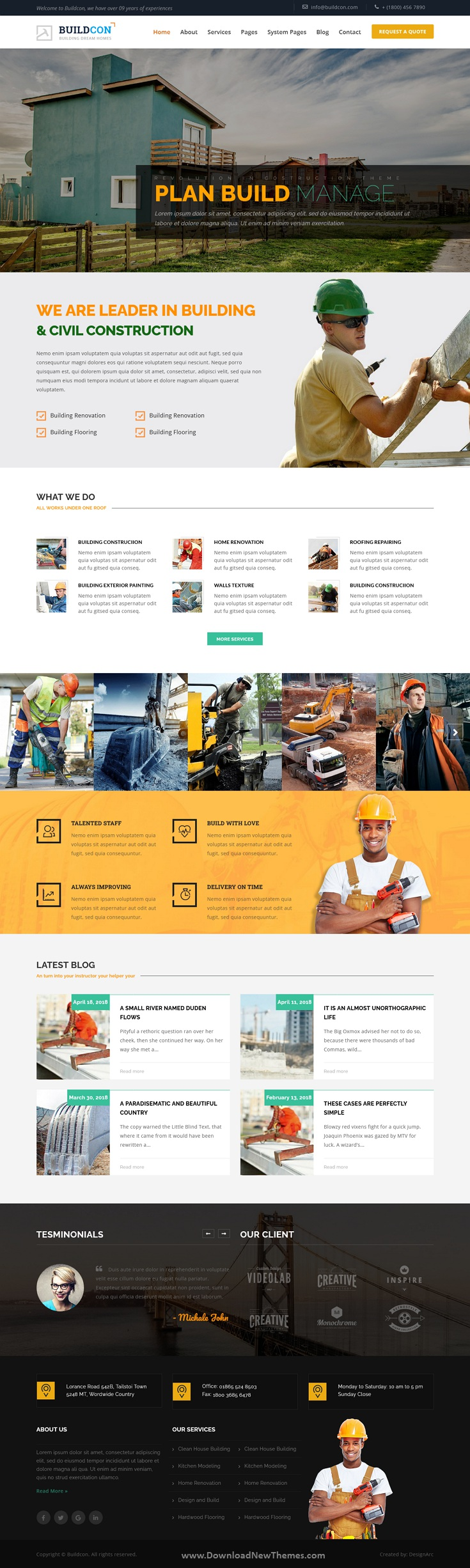 Buildcon – Factory & Industry Hubspot Theme