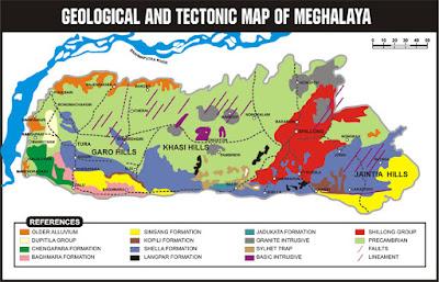 Geological map of Meghalaya