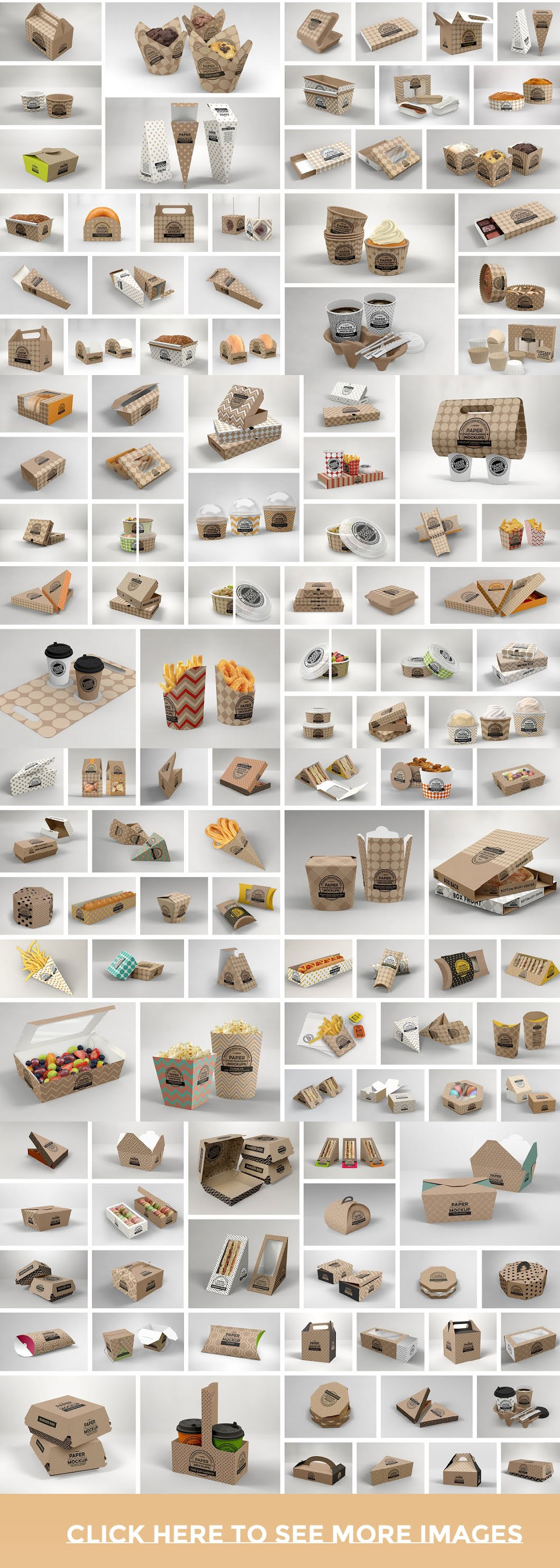 CreativeMarket   BUNDLE Paper Packaging Mockup 2513245