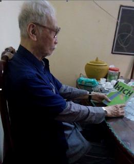 Ảnh chụp: Ông Vũ Dũng Minh khi ở tuổi 90
