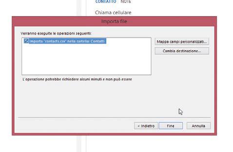 Come adattare il database contatti gmail