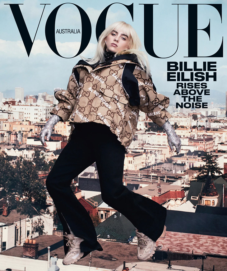 Billie Eilish is the Cover Girl of Vogue Australia August 2021 Issue