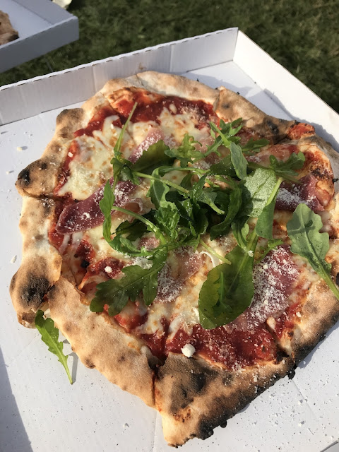 Leeds Festival 2018 what we ate - ham and rocket pizza