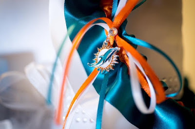Miami Dolphins Wedding Garter by Sugarplum Garters