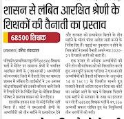 APPOINTMENT, SHIKSHAK BHARTI : 68500 शिक्षक भर्ती में शासन से लंबित आरक्षित श्रेणी के शिक्षकों की तैनाती का प्रस्ताव