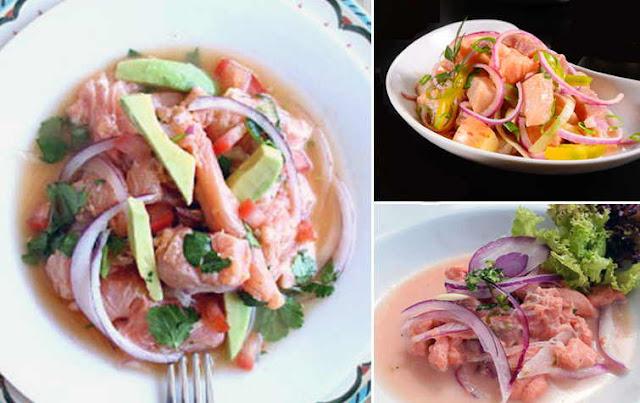 receta de cebiche peruano de salmon