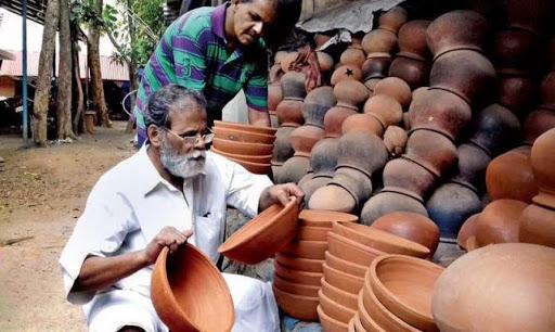 man selling pots