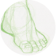 Drawing feet in different postions