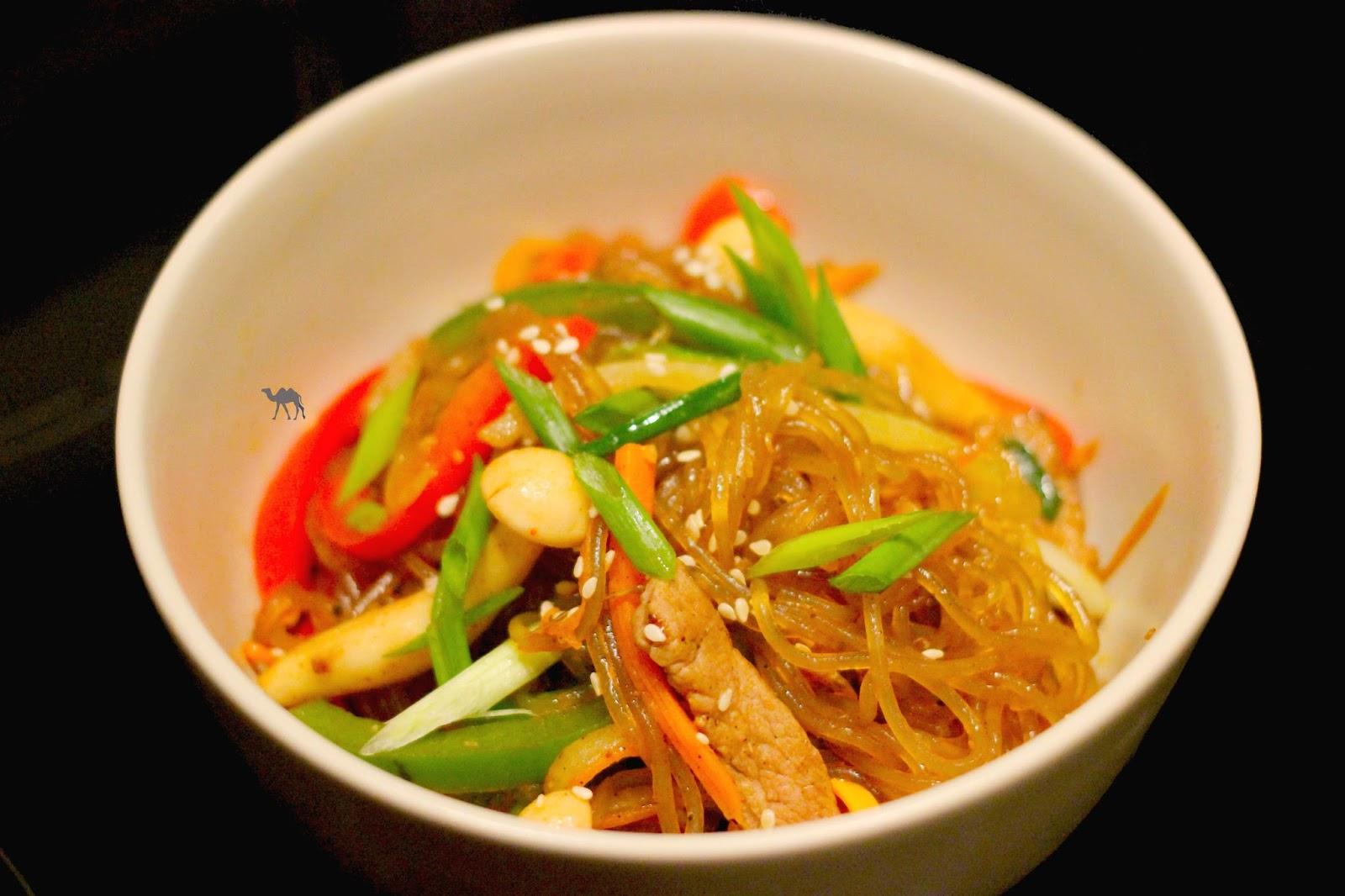 Le Chameau Bleu - Recette coréenne du Japchae - Cuisine coréenne