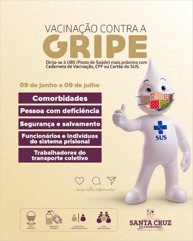 Santa Cruz inicia a 3ª etapa da Campanha Nacional de Vacinação contra a gripe