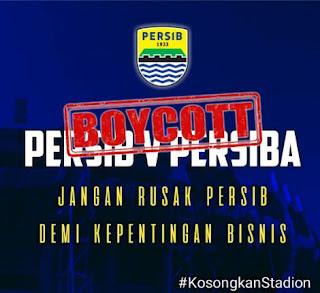 #KosongkanStadion Menggema, Laga Persib vs Persiba Terancam Sepi Penonton