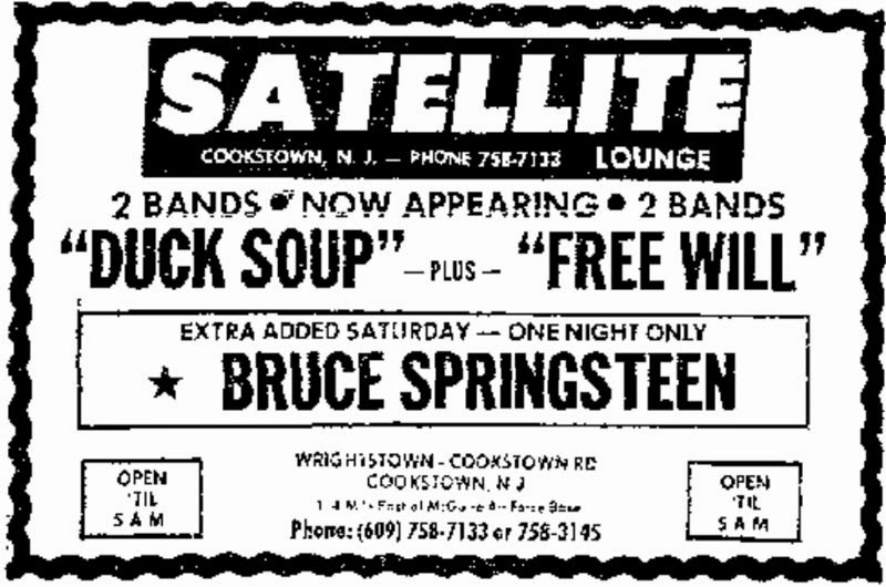 The satellite Lounge Cookstown, New Jersey ad