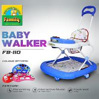 baby walker family fb110 happy farm alat belajar jalan dorongan bayi