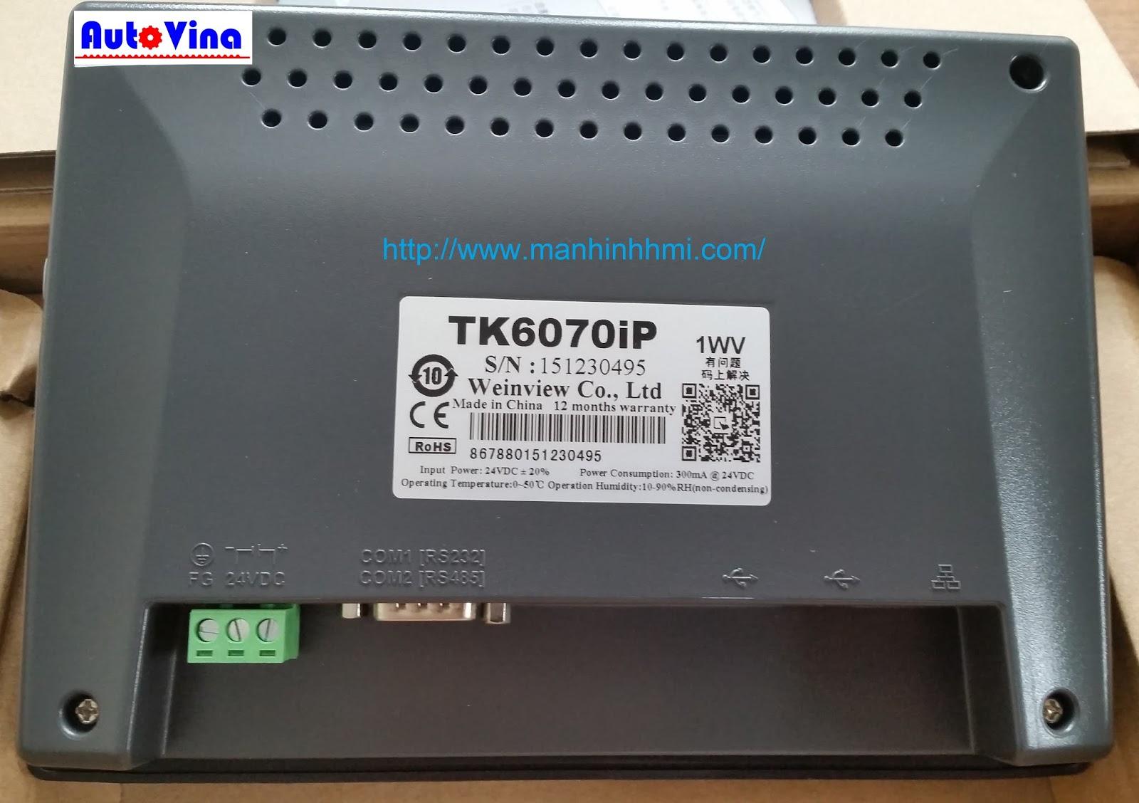 Tổng đại lý phân phối, bán màn hình cảm ứng HMI Weinview Weintek 7 inch TK6070iP. Sửa chữa thay thế tấm cảm ứng màn hình HMI Weinview. Thay thế LCD HMI Weinview.
