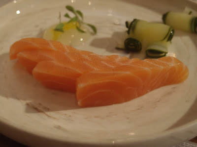 Apple Cured Salmon Sashimi