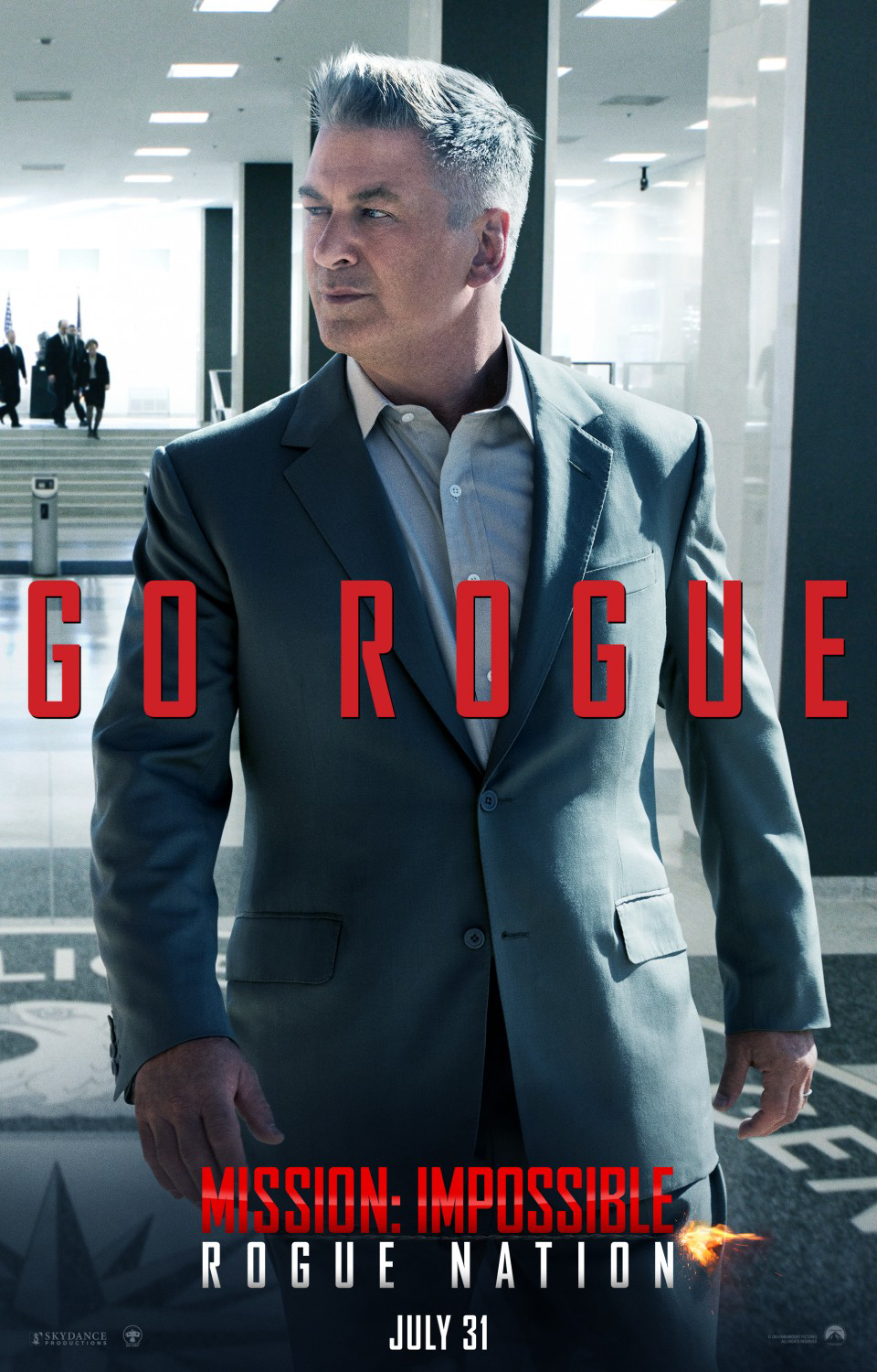 Mission Impossible: Rogue Nation Poster - Alec Baldwin