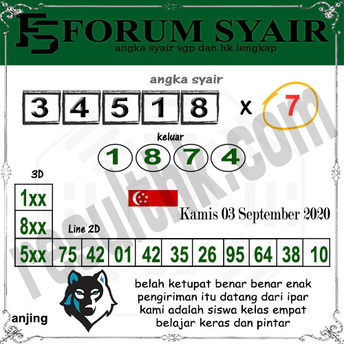 Forum Syair SGP Kamis 03 September 2020
