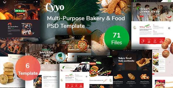 Best Multipurpose Food & Bakery PSD Template