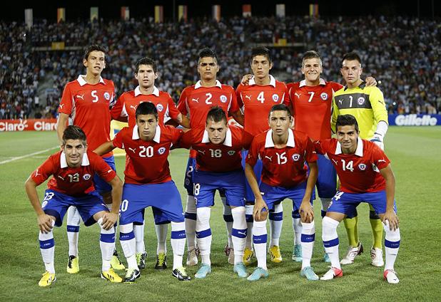 Formación de Chile ante Argentina, Campeonato Sudamericano Sub-20 Argentina 2013, 9 de enero