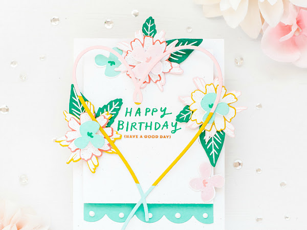 Happy Birthday - Using Up Scraps | The Stamp Market