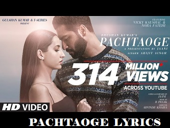Jaani ve album Song Lyrics-Pachtaoge