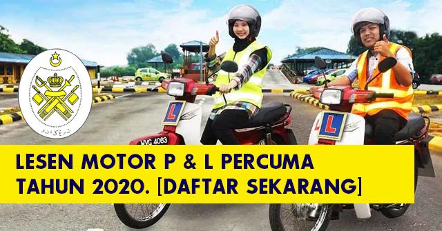 Terengganu - Cara Mohon Online Lesen Motosikal P & L PERCUMA Sehingga 12 Mac 2020