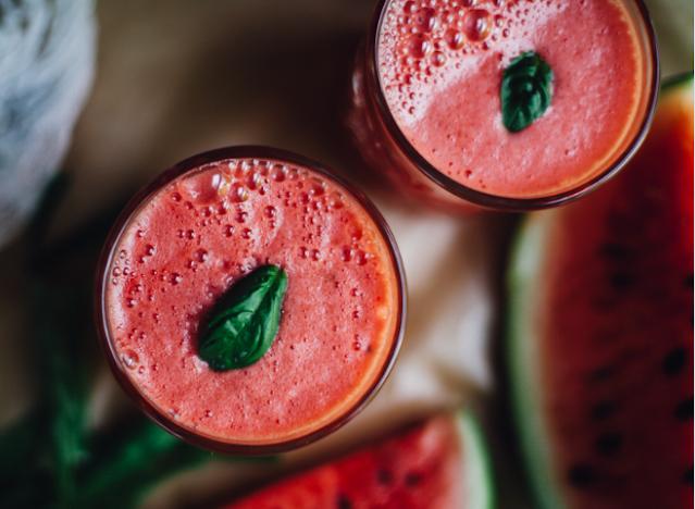 Watermelon Coconut Aloe Juice #healthy #drinks