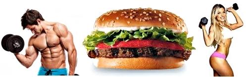 Hamburguesa nutrición masa muscular