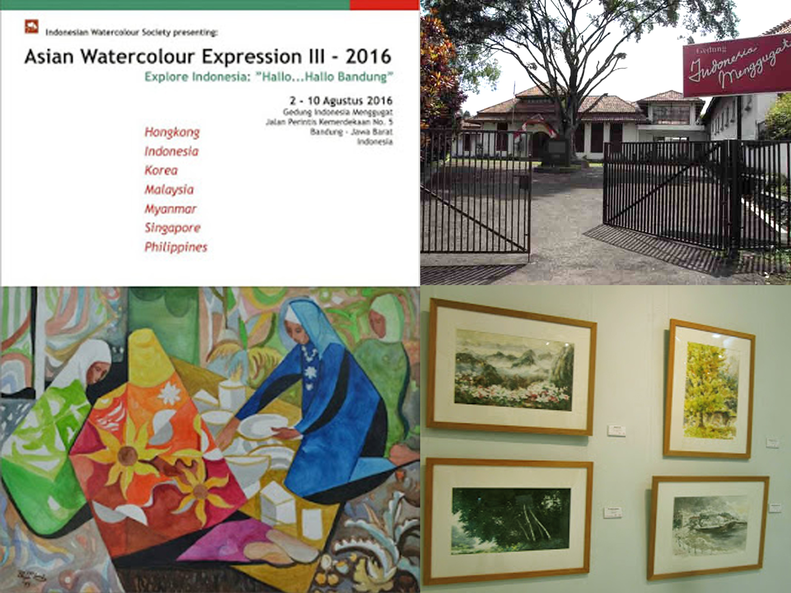 Asian Water Color Expression III - 2016 Bandung