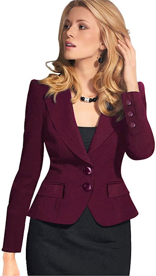 Women's Red Blazers Jackets