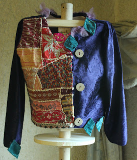 work in progress refashioned patchwork jacket