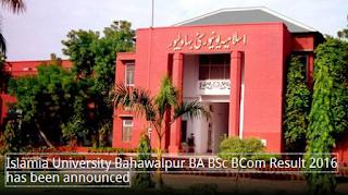 Islamia University Bahawalpur IUB Results 2016 B.A BSc BCOM