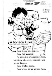 Leitura A boneca Xuxa
