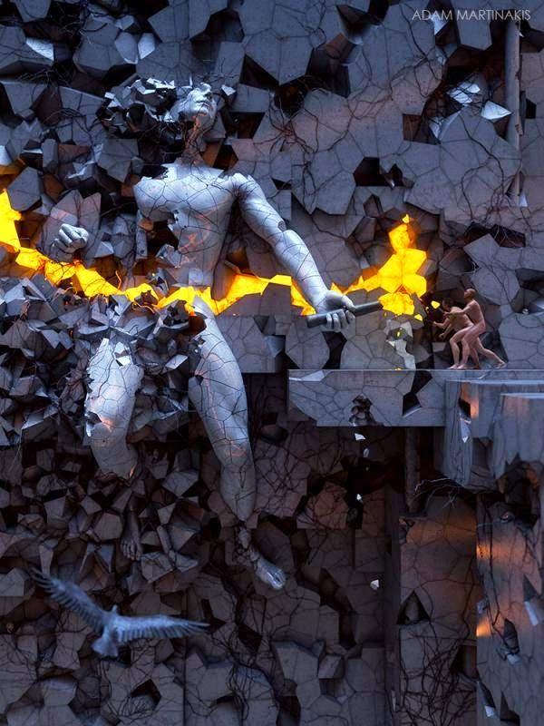 Karya seni digital 3D seniman asal Yunani