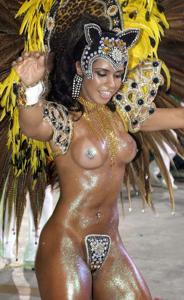 Carnival in Rio De Janeiro, Brazil<br>The ladies like to show some skin at Carnivale