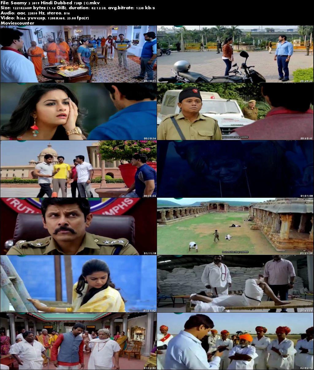 Screen Shots Saamy 2 2018 Hindi Dubbed HD 720p
