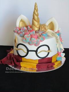 Bolo de aniversário Unicórnio Harry Potter