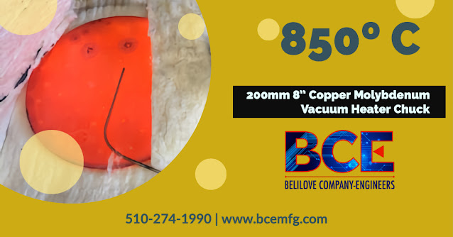 850º C Copper Molybdenum (CuMo) Vacuum Heater Chuck