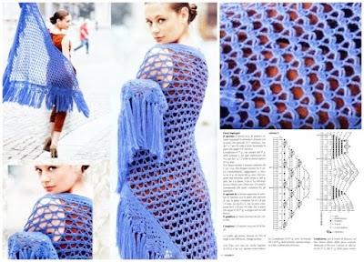 Chal a crochet inspirado en el parque de Valentino