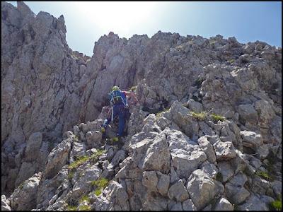 Pedraforca, hacia el Calderer, desde el Gat