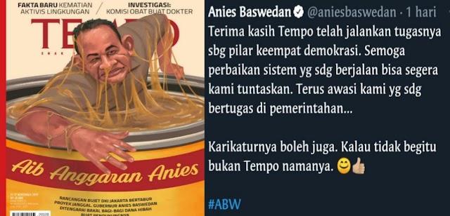 Rintihan Anies Baswedan Setelah Dihajar Majalah Tempo