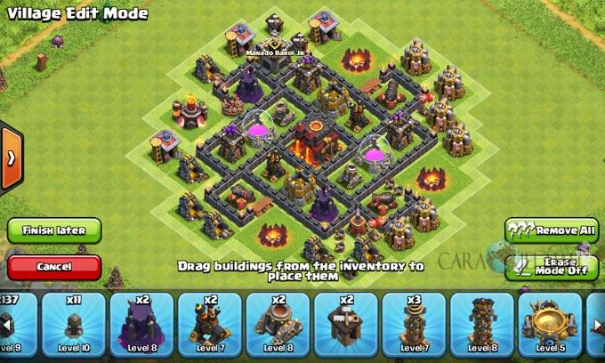 pertahanan terbaik untuk base war th 6 di clash of clans 13