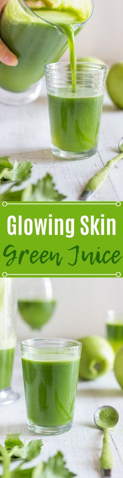 Glowing Skin Green Juice #healthy #drinks