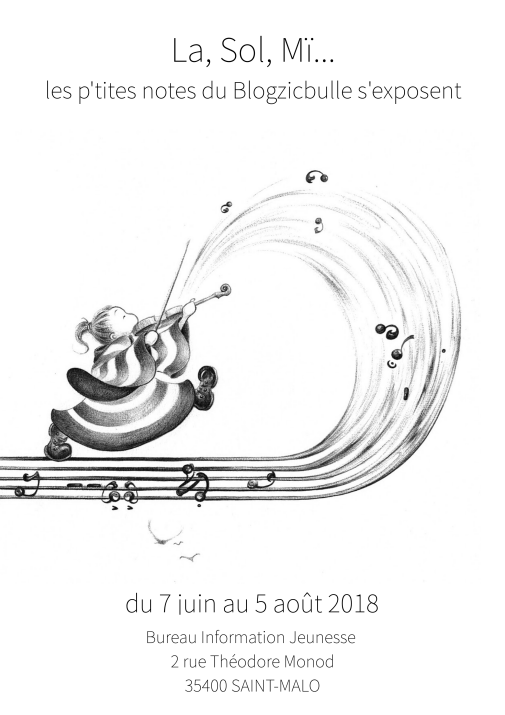 exposition de dessins par Wenn-Maï au BIJ de St Malo - 2018