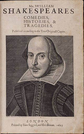 Title page of the Shakespeare first book 'First Folio'