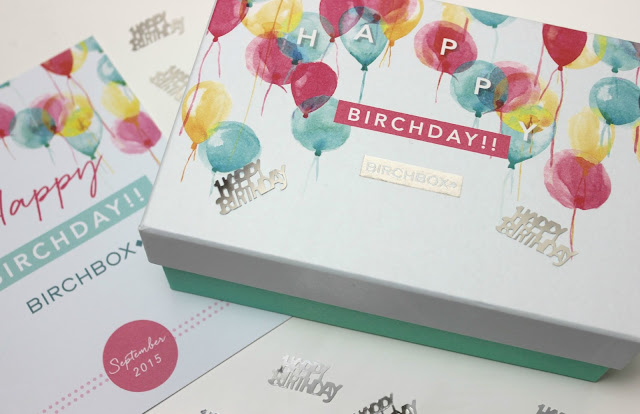 Celebrating 5 Years of Birchbox with the September 2015 Birchbox UK Birthday Birchday Box