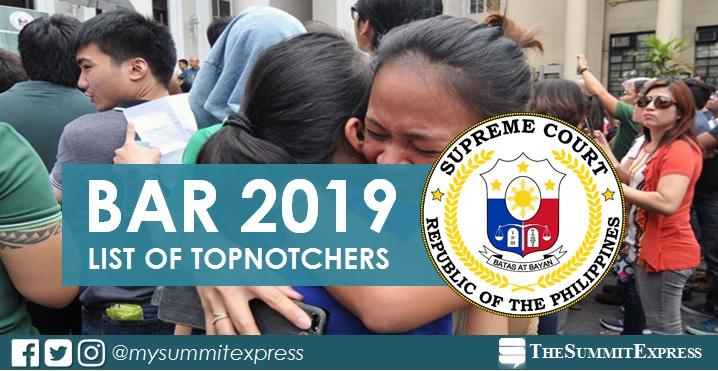Results, Top 10: 2019 Bar Exam Topnotchers
